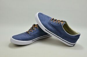 SPERRY TOP-SIDERS Mens Lace Up DENIM Blue Tennis Sneakers Shoes Size 10