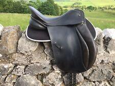 "17.5"" Symonds Dressage Saddle M High Wither Black"