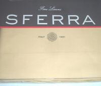Sferra Celeste Twin Flat Sheet Almond 406 TC Egyptian Cotton Percale New