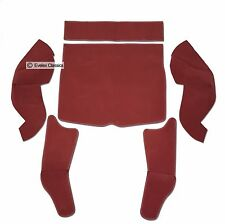 MGB GT BOOT CARPET SET DAMASK RED CARRELLI WTH HESSIAN BACKING FROM 1966 TO 1980