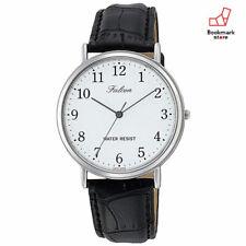 New CITIZEN Q&Q Watches Falcon White Black Leather Belt Q996-304 Men's F/S