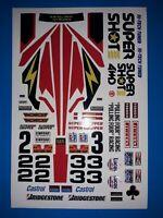 SUPER SHOT CUSTOM TAMIYA HPI LOSI RC 1/10th PLUS EXTRA DECALS STICKERS