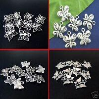 Tibetan Silver Butterfly Theme Pendant Charms, Joblot, Jewellery Kits, Mixed