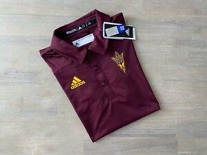 Adidas Arizona State Sun Devils Football Tech Polo ASU GE1735 NCAA Official