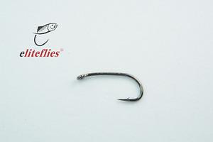 Elite Black Nickel Comp Heavyweight size 10 fly tying hook , fly fishing, trout