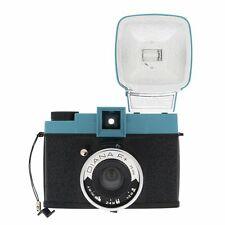 Lomography Classic Diana F+ Medium Format Camera with Flash Kit, Blue Accent