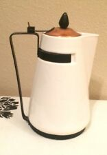 VINTAGE MODERN DANISH ERNEST SOHN CREATIONS COFFEE POT TEA KETTLE W COPPER LID