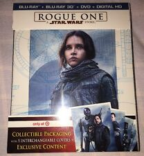 Rogue One Star Wars 3D Blu-ray DVD Digital Target Collectible Package Bonus New