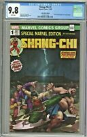 Shang-Chi #1 CGC 9.8 Comic Mint Edition Derrick Chew Variant Cover Homage COA