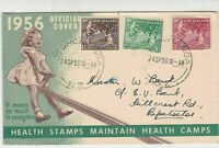 New Zealand 1956 Child on Seesaw Health Stamps Official Souvenir Cover Ref 28687
