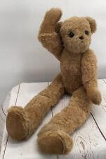 "Vintage DiFalco 26"" Stuffed Jointed Head Arms Hips Teddy Bear USA Hand Feet Pads"
