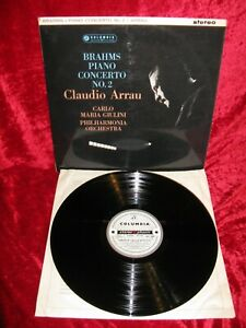 1963 UK NM SAX 2466 ED1 B/S STEREO BRAHMS PIANO CONCERTO 2 ARRAU GIULINI