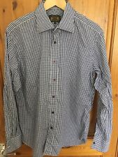 Hope And Glory Mens Blue/white Chequered Shirt Large