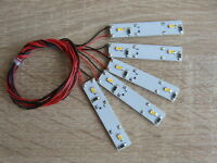 5 X Waggonbeleuchtung LED, Hausbeleuchtung, Modellbau, H0, N, TT