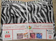 Completo Letto Lenzuola Matrimoniale Due Piazze Zebrato Zebra in Cotone 2 Posti