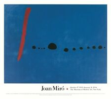 Blue II by Joan Miró Art Print Oversize MOMA Miro Poster Out of Print 55x48