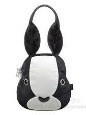 Rabbit Purse LARGE  BLACK WHITE Morn Creations  bag roger hare were bugs bunny