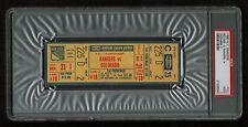 PSA 2 COLORADO ROCKIES 1980 Unused NHL Hockey Ticket at Madison Square Garden