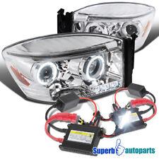 2006-2008 Dodge Ram 1500 2500 3500 Halo Projector Headlights Clear+H1 Slim HID