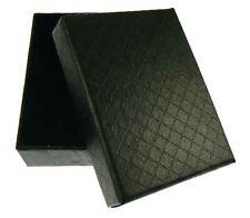 12 NEW Wholesale Mens Black Jewellery Gift Boxes - 7x9x3cm