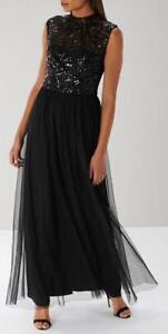 Coast- Marnie Sequin Maxi Dress - Black - Size 12(BNWT)please read the note.
