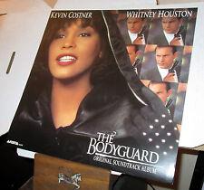 rare 1992 WHITNEY HOUSTON the bodyguard PROMO ONLY SOUNDTRACK FLAT poster cissy
