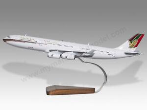 Airbus A340-300 Gulf Air Solid Kiln Dried Mahogany Wood Airplane Desktop Model