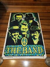 The Band Original Vintage Blacklight Poster 1970's Music Pin-up Beeghly