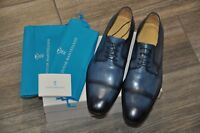 Authentic New Sutor Mantellassi Blue Leather Lace-Up Cap Toe Shoes,UK11/US12