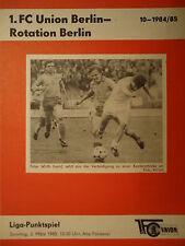 Programm 1984/85 Union Berlin - Rotation Berlin