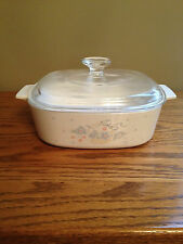 Vintage CORNING 2 Quart Covered Casserole Dish A-2-B COUNTRY CORNFLOWER Baking
