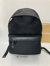 06d0f8165f38 NWT Michael Kors Men s Kent Backpack Travel Notebook Book Bag Nylon Black   198