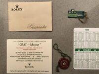 ROLEX SET GMT-MASTER 1969/1970 Corredo Vintage Extremely Rare