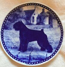 Bouvier Des Flanders Dog Plate, Danish Blue Porcelain Brand New,~Free Shipping~