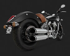 Vance & Hines Exhaust Chrome Twin Slash Round Slip-ons Indian Scout  18621