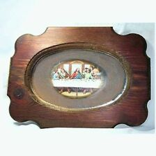Last Supper picture, wood frame & mirror B53