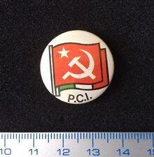 Pin Back Italian Communist Party Vintage Badge Metal Very Scarce