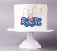 Peppa Pig Logo Edible Image Cake Topper Gluten Free Vegan Easy To Use