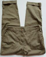 Chicos Ankle Pants Size 0.5 Womens 6 Green Cuffed Cotton Blend Mid Rise Stretch