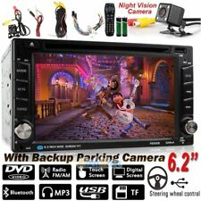 "Double 2DIN Android 3G 6.2"" Bluetooth Car Stereo DVD CD MP3 Player Radio+Camera"