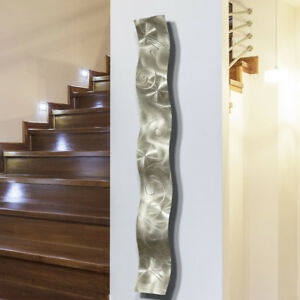 Abstract Metal Wall Art Sculpture  Wave Accent Decor Original Design  Jon Allen