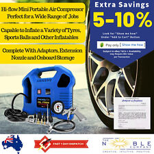 Chicago Air Small Portable Electric Air Compressor Oilless Inflator w/ Air Tools