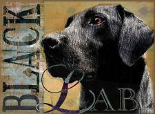 BLACK LAB DOG Art Print Poster - Labrador Retriever signed Wendy Presseisen