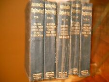 5) 1920 automobile engineering leatherette technical manuals chicago books