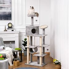 PawHut Cat tree Tower 179cm Climbing Activity Centre Kitten with Jute Scratching