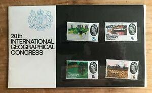 GB 1964 Geographical Congress Presentation Pack Flat Original Cellophane Sleeve