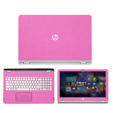 "Sparkling Pink  Fiber skin decal wrap skin Case for HP ENVY x360 m6 15.6"" laptop"