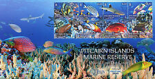 Pitcairn Isl 2017 FDC Marine Reserve 8v Cover Fish Fishes Sharks Corals Stamps