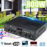 800W bluetooth HIFI Stereo Amplifier 2CH Tuner FM USB SD Mic Input Home Karaoke