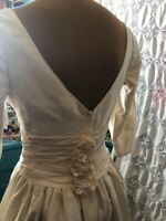 Wedding Dress Ivory Vintage 80's Could Do 50's Size 6